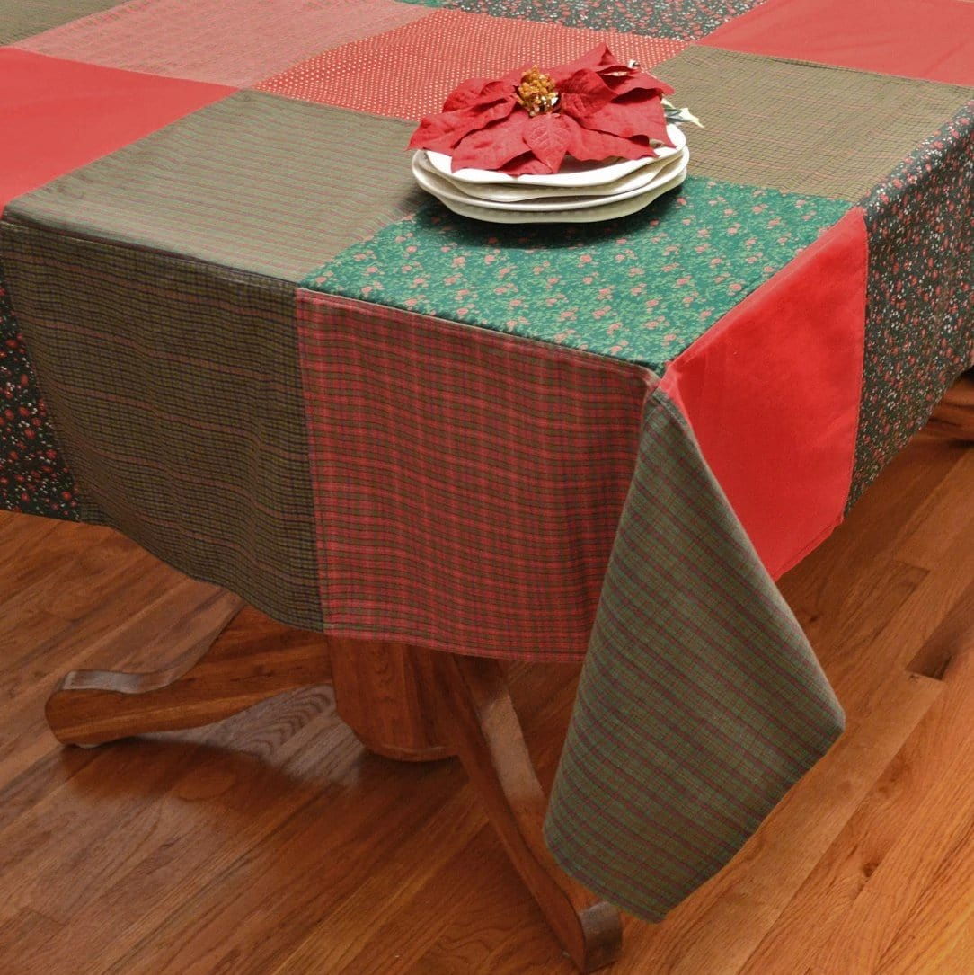 Festive Patchwork Christmas Tablecloth