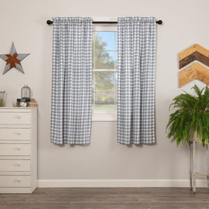 "Sawyer Mill Blue Plaid 63"" Panel Set"
