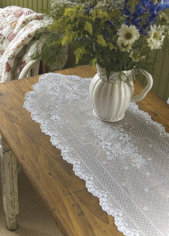 Floret Lace Runner - Retro Barn Country Linens - 1