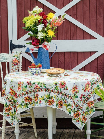 Friendship Tablecloth & Napkin Set - Retro Barn Country Linens - 1