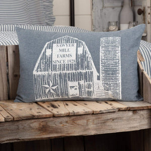 Sawyer Mill Blue Barn Pillow