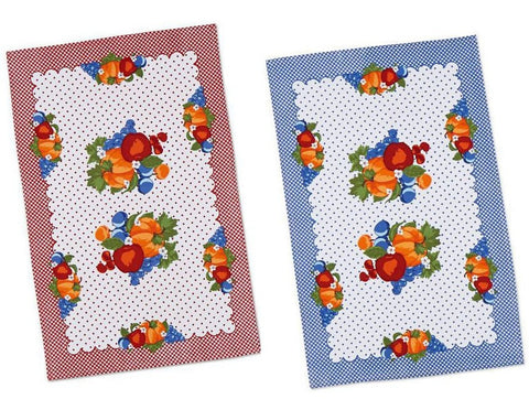 Fruity Gingham Tea Towel Set - Retro Barn Country Linens