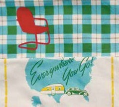 Great Outdoors Towel Set - Retro Barn Country Linens - 3