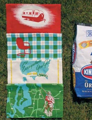 Great Outdoors Towel Set - Retro Barn Country Linens - 1