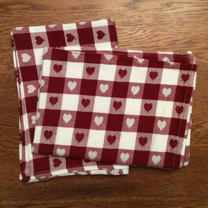 Country Heart Tea Towel Set