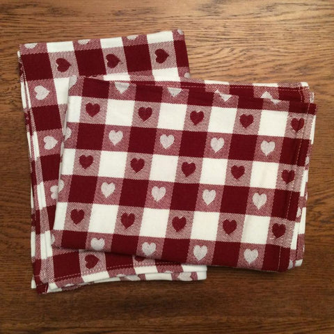 Country Heart Tea Towel Set at Retro Barn
