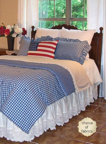 Perfect Country Cottage Bedding, Table Linens | Retro Barn Country Linens WY29