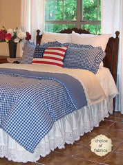 Homespun Coverlet - Retro Barn Country Linens - 1