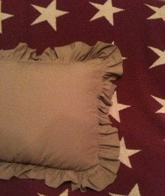 Homespun Ruffled Pillow Sham