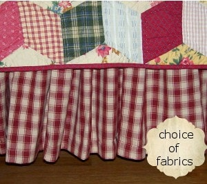 Custom Homespun Bedskirts And Dust Ruffles Made In Usa Retro Barn Country Linens