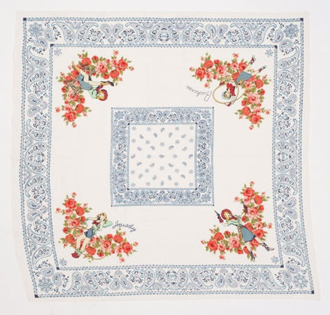 Howdy Buckaroo Tablecloth - Retro Barn Country Linens - 1