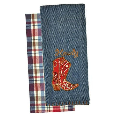 Howdy Dishtowel Set - Retro Barn Country Linens - 2