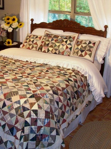 Kaleidoscope Quilt - Retro Barn Country Linens - 1