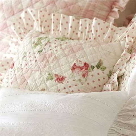 Kate Quilted Pillow - Retro Barn Country Linens - 2