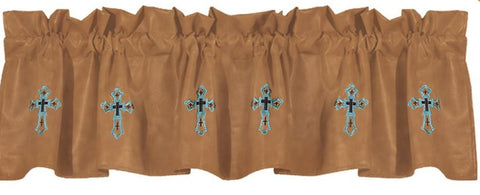 Las Cruces II Embroidered Valance - Retro Barn Country Linens