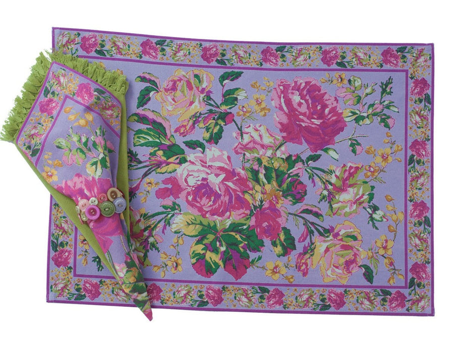 Victorian Rose Lavender Placemat Set