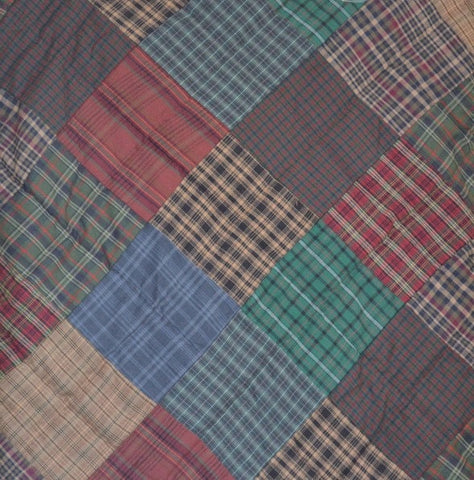 Lincoln Plaid Patchwork Valance - Retro Barn Country Linens - 2