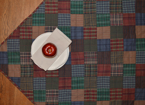 Lincoln Plaid Mini Quilt - Table Topper