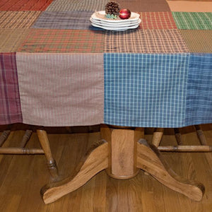 Lincoln Plaid Patchwork Tablecloth
