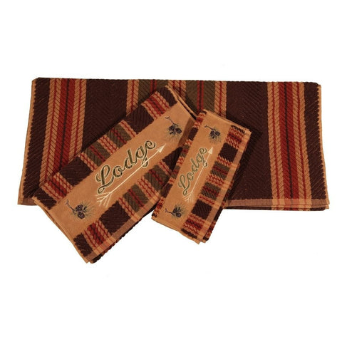 Lodge Bath Towel Set - Retro Barn Country Linens