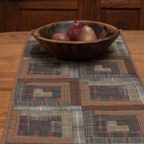 Frontier Log Cabin Table Runner by Retro Barn
