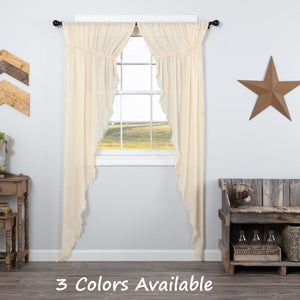 Tobacco Cloth Rustic Sheer Long Prairie Curtain