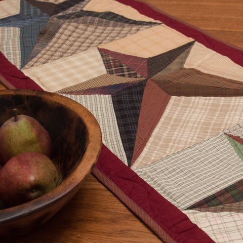 Scrappy Star Table Runner by Retro Barn