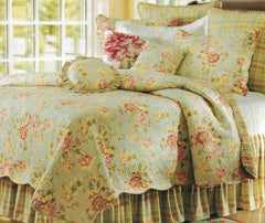 "Music Sage Queen Bedskirt 18"" - Retro Barn Country Linens - 1"