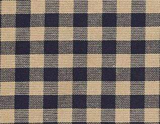 Navy Check Swag - Retro Barn Country Linens - 2