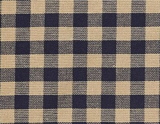 Navy Check Prairie Curtain - Retro Barn Country Linens - 2