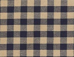 "Navy Check 63"" Panel Set - Retro Barn Country Linens - 2"