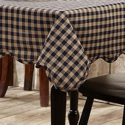Navy Check Square Tablecloth