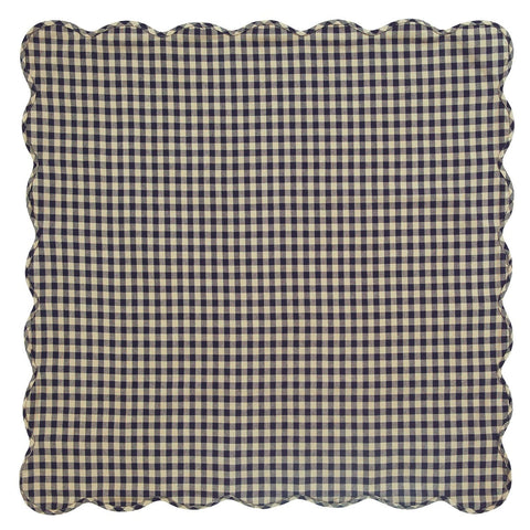 Navy Check Square Tablecloth - Retro Barn Country Linens - 2