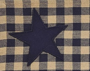 "Navy Star 84"" Panel Set - Retro Barn Country Linens - 2"