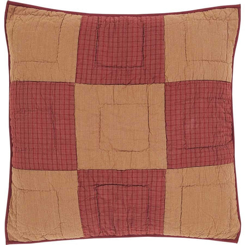Ninepatch Star Quilted Euro Sham - Retro Barn Country Linens