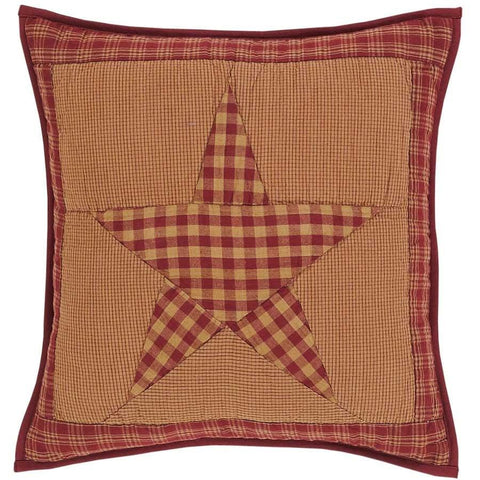 Ninepatch Star Quilted Toss Pillow - Retro Barn Country Linens
