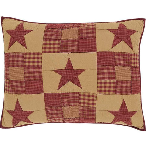 Ninepatch Star Standard Sham - Retro Barn Country Linens