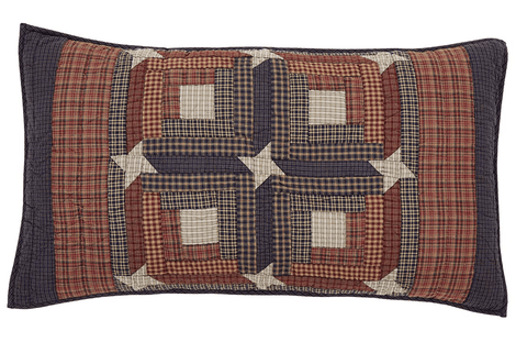 Parker King Sham - Retro Barn Country Linens - 1