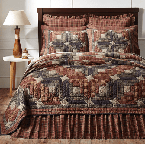 Parker Quilt - Retro Barn Country Linens - 1