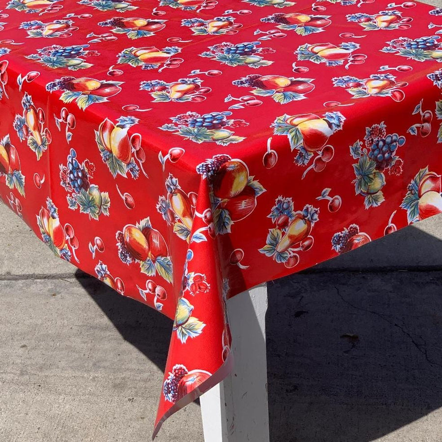 Pears and Apples Oilcloth Tablecloth