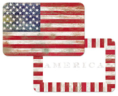 Americana Placemat Set - Retro Barn Country Linens