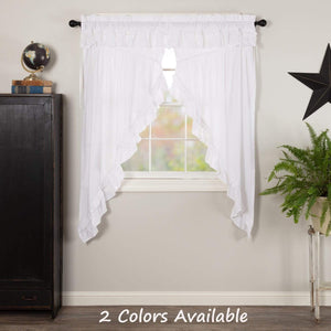 Muslin Ruffled Prairie Curtain