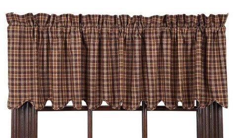 Prescott Scalloped Valance - Retro Barn Country Linens