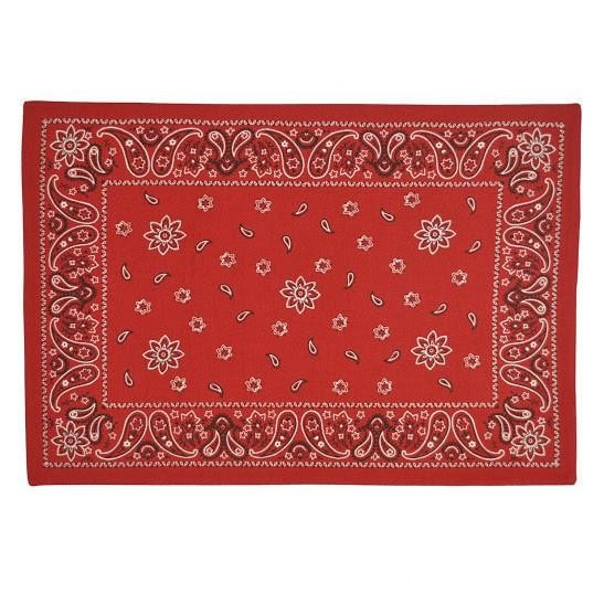 Red Bandana Placemat Set Retro Barn Country Linens