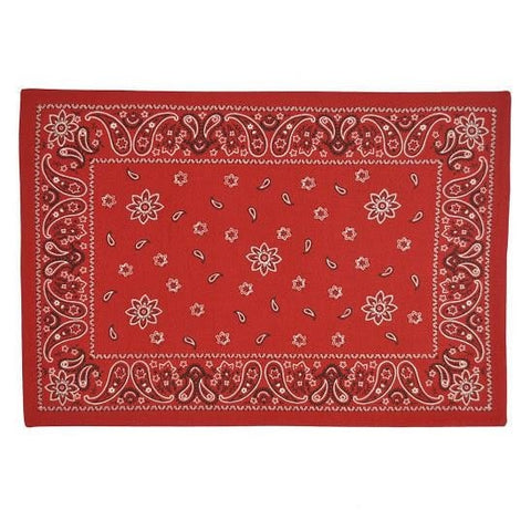 Red Bandana Placemat Set - Retro Barn Country Linens