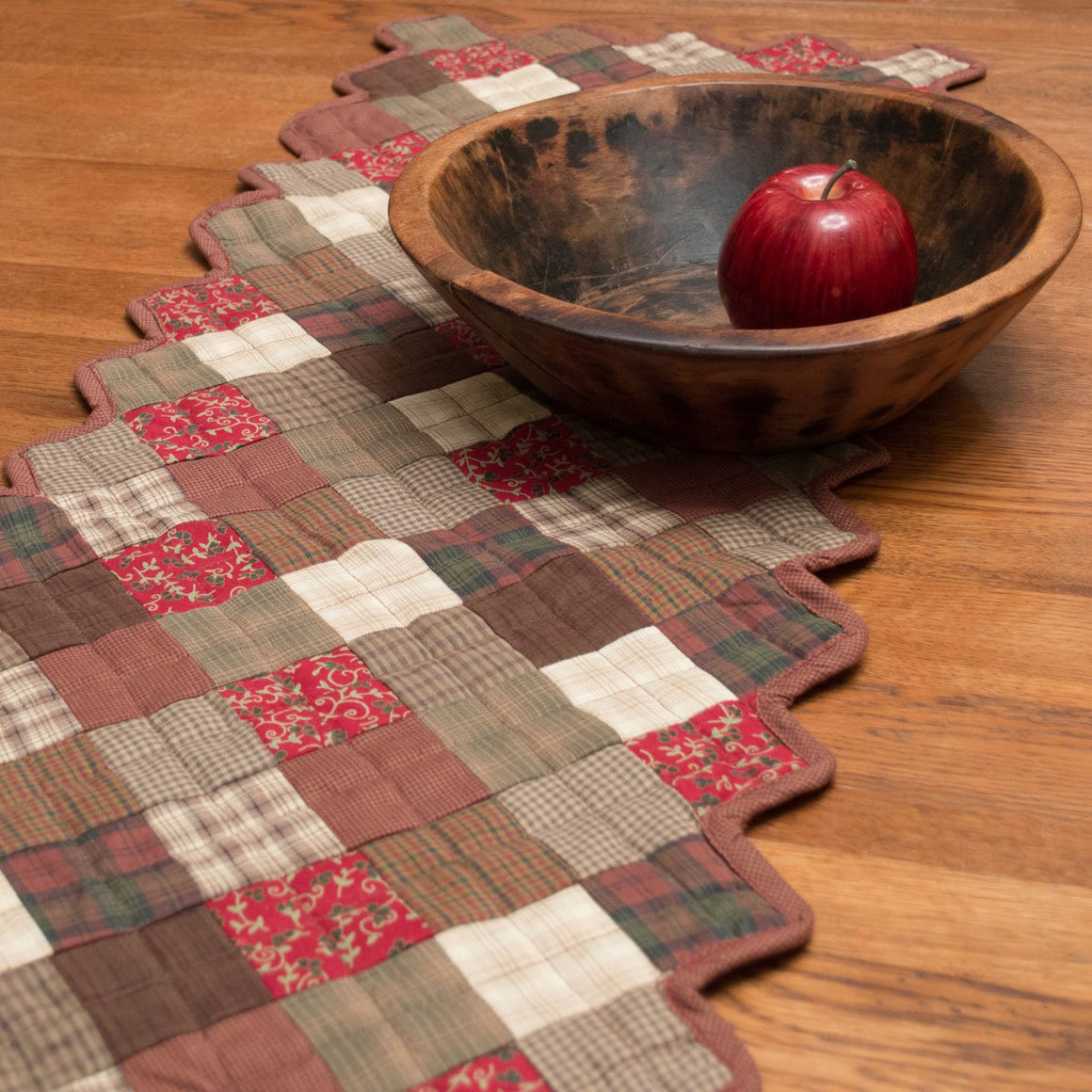 Rosewood Quilted Table Runner