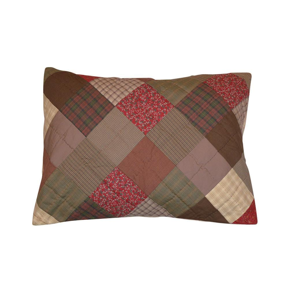 Rosewood Hand Quilted Pillow Sham