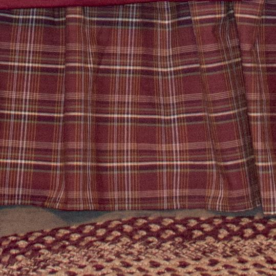 Rust Plaid Bedskirt