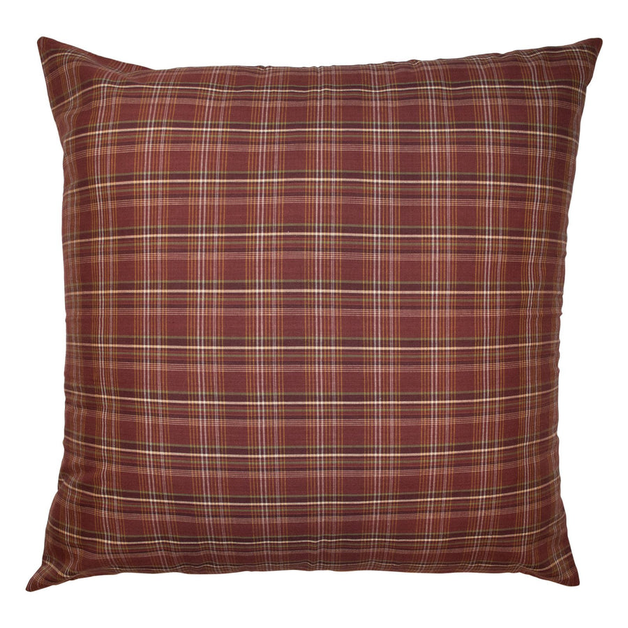 Rust Plaid Euro Sham