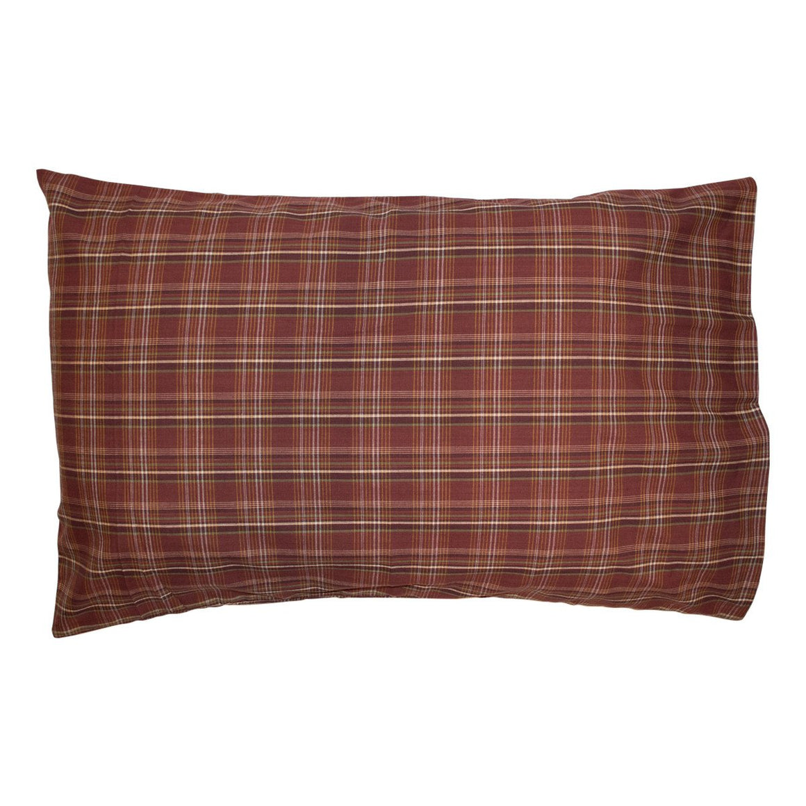 Rust Plaid Pillow Case Set